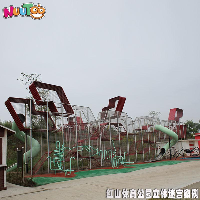 揚州紅山體育公園無動力非標游樂項目工程案例