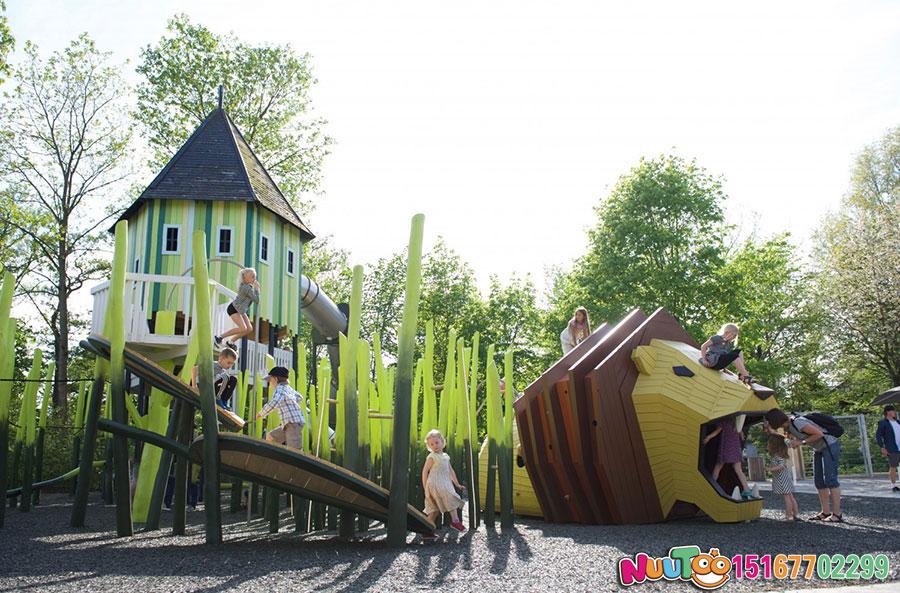 狮子组合乐园+游乐设施+组合游乐设施+组合滑梯+大型游乐设备+儿童游乐设备-(7)