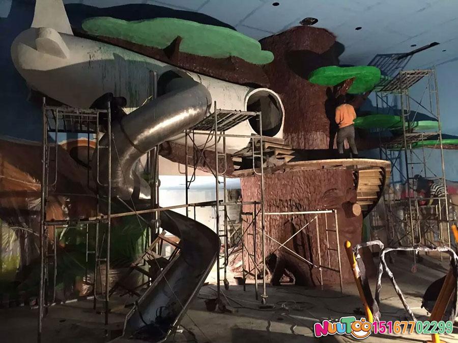 乐图非标游乐+不锈钢滑梯+室内游乐场-(4)