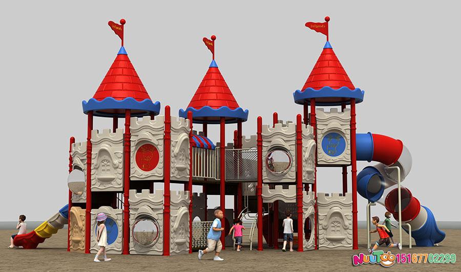 组合滑梯+儿童游乐设备+小博士+长城 (2)