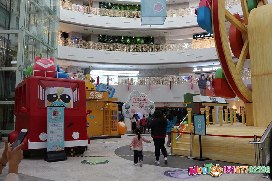 乐图非标游乐+北京枫蓝国际购物中心+不锈钢半圆滑梯-(22)