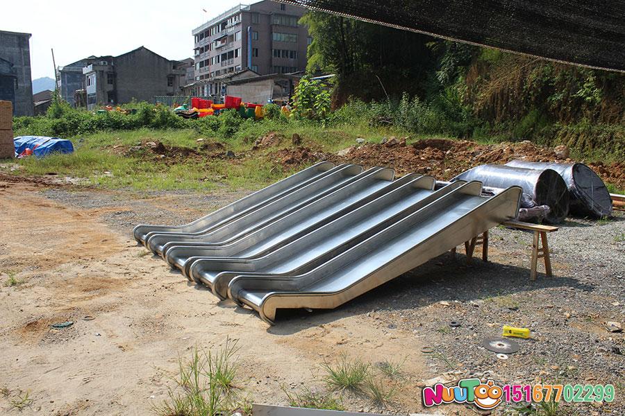 乐图非标游乐+不锈钢滑梯+山西运城幼儿园案例-(31)