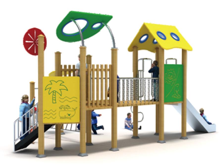 组合滑梯+游乐设备+小博士+滑梯+原木滑梯+不锈钢组合滑梯16