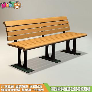 歐式防腐木戶外休閑椅_樂圖非標游樂