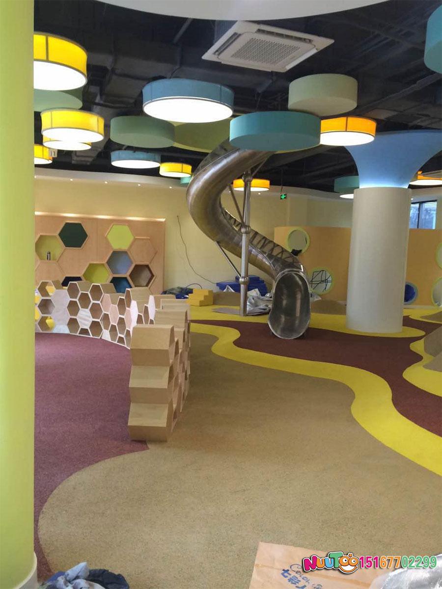 乐图非标游乐+不锈钢滑梯+从化市绿城儿童运动场滑梯-(3)