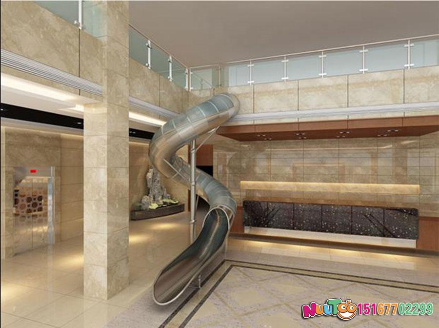 乐图非标游乐+不锈钢滑滑梯+办公室休闲游乐-(3)