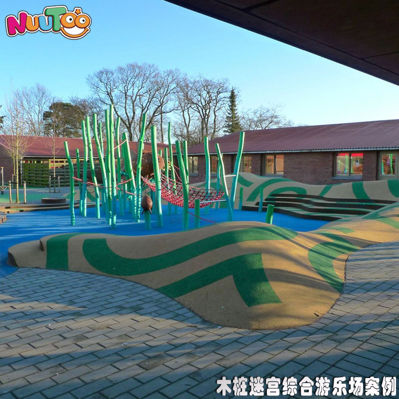 木樁迷宮吊籃綜合非標游樂場新設備