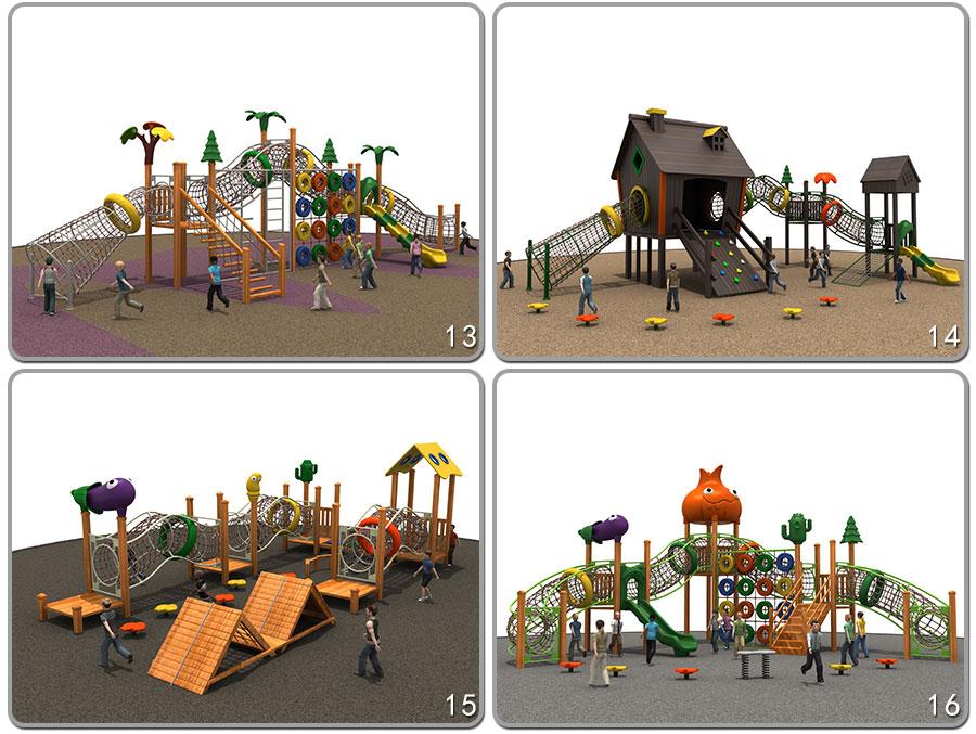 组合滑梯+实木组合滑梯+木质组合滑梯+无动力游乐设施+原木组合滑梯_10