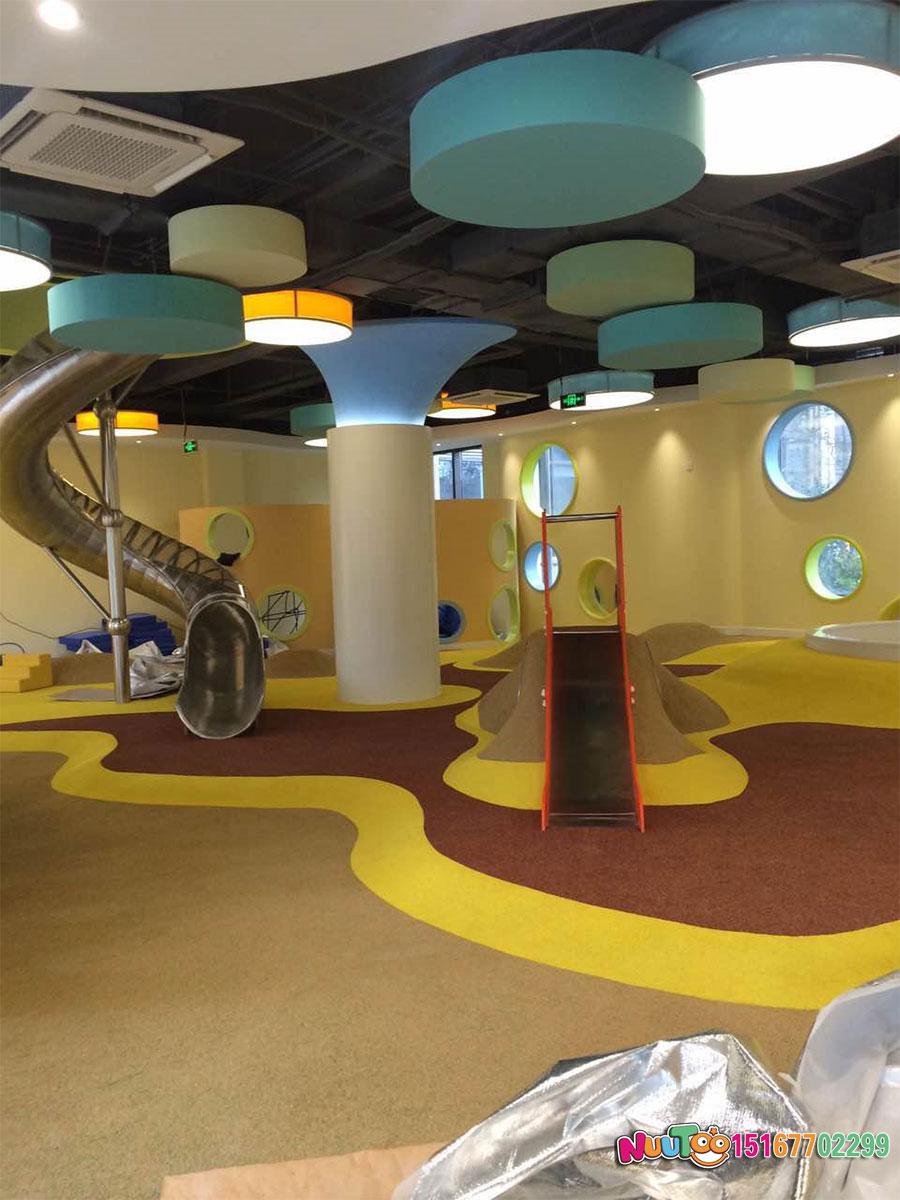 乐图非标游乐+不锈钢滑梯+从化市绿城儿童运动场滑梯-(2)
