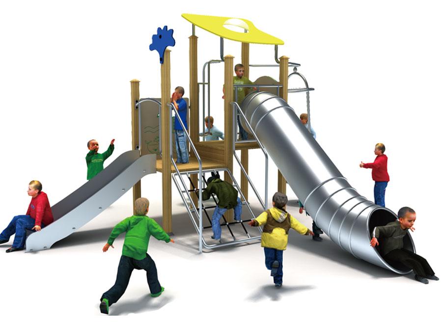 组合滑梯+游乐设备+小博士+滑梯+原木滑梯+不锈钢组合滑梯6