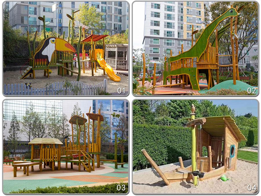 组合滑梯+实木组合滑梯+木质组合滑梯+无动力游乐设施+原木组合滑梯_02