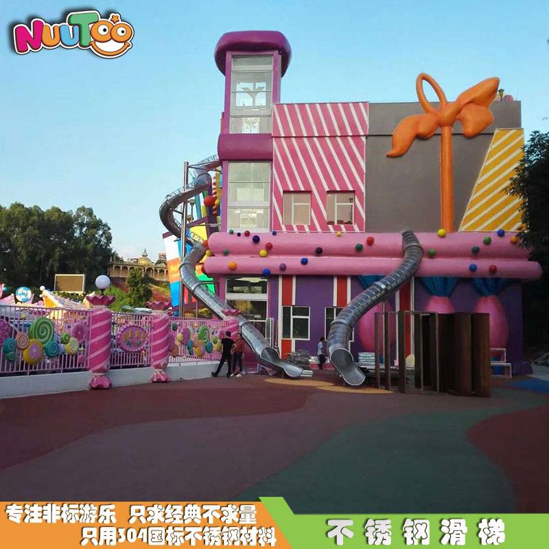 臺州銀泰購物中心不銹鋼滑梯_樂圖非標游樂設備