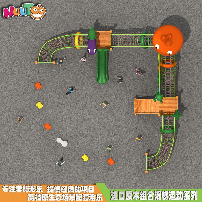 大型組合鉆網 組合滑滑梯 鉆網組合滑梯游樂設施廠家LT-ZH015