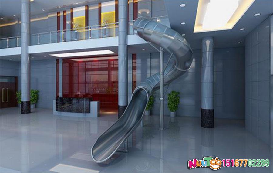 乐图非标游乐+不锈钢滑滑梯+办公室休闲游乐-(1)