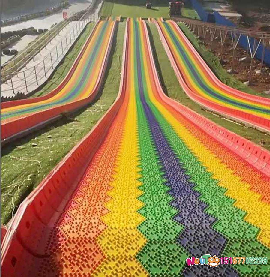 七彩滑道+七彩滑梯+旱雪滑梯+飞跃滑梯-(15)