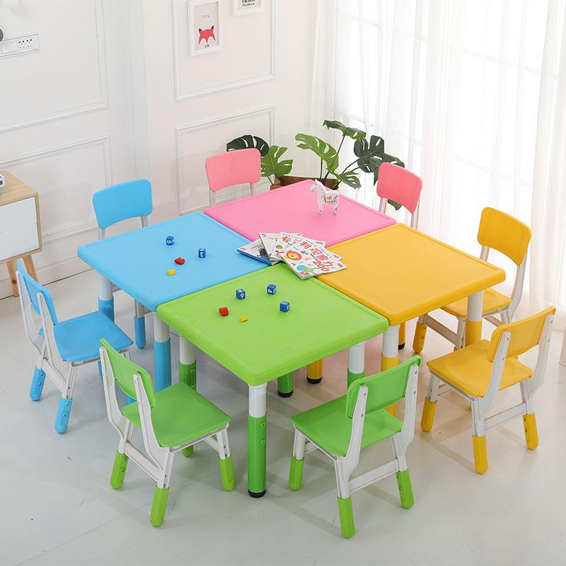 升降正方桌兒童游樂場配套設施_樂圖非標游樂